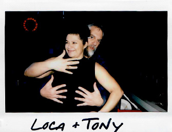 polaroid image of Dana and Tony